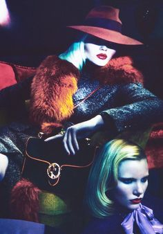 Abbey Lee Kershaw & Emily Baker/Gucci Fall Winter 2011 Photographed by Mert & Marcus