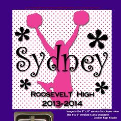 Personalized Custom Name Cheer Spirit Team Canvas Sign Board