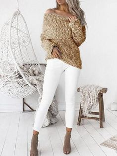 Chicnico Fashion Off Shoulder Loose Sweater http://shareasale.com/r.cfm?b=940801&u=1425877&m=65860&urllink=https%3A%2F%2Fwww%2Echicnico%2Ecom%2Fcollections%2F2017%2Dnew%2Darrivals%2Fproducts%2Fchicnico%2Dfashion%2Doff%2Dshoulder%2Dloose%2Dsweater&afftrack=