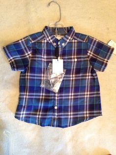 blue plaid burberry shirt