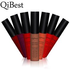 Tinte líquido Qibest Mate Lápiz Labial Maquillaje de la Marca de Alta Calidad A Prueba de agua de Larga Duración Etiqueta brillo de Labios Sexy Labial Cosméticos Conjunto