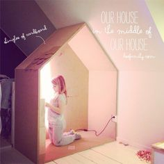 DIY House-In-The-Middle-Of-Our-House for a kid's room