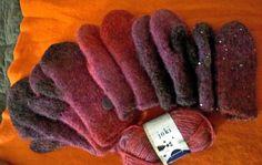 Huopalapaset ja rumpukuivaajahuovutus. Mummin vuodenajat: Miun oma villakammari - My wool chamber