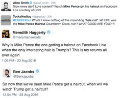 CNN Showed a Live Stream of VP Nominee Mike Pence Getting a Haircut and It Was as Awkward as It Sounds