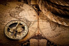 Find Old Compass Rope On Vintage Map stock images in HD and millions of other royalty-free stock photos, illustrations and vectors in the Shutterstock collection. Map Compass, Compass Rose, Compass Tattoo, Vintage Compass, Vintage Maps, Antique World Map, Antique Maps, Moby Dick, Pirate Maps