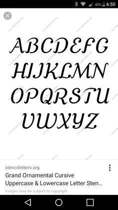 AlLbn Bernard  Alphabet Stencil Lowercase  Stencils