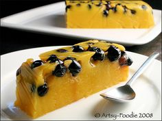 ...two of my favorite flavors...mango blueberry agar agar terrine!