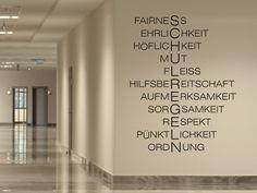 Mit dem Wandtattoo Schulregeln kannst Du Deine Wand kreativ gestalten.