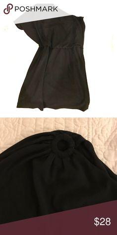 Cocktail dress Short, Matte jersey, one shoulder dress. White House Black Market Dresses One Shoulder