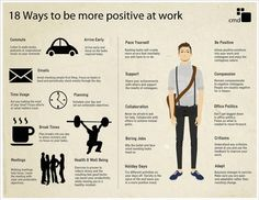 18 ways to be more positive @ work