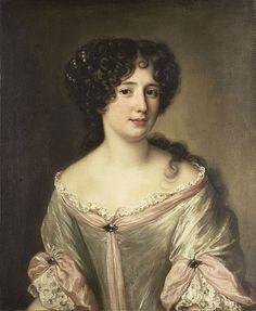 Portrait of Maria Mancini by artist Jacob Ferdinand Voet (1639-1689).