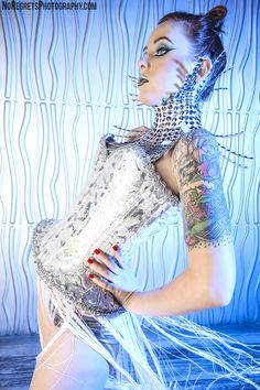 no regrets photography futuristic photoshoot idea alien wonderland studios alt model tattoos red hair