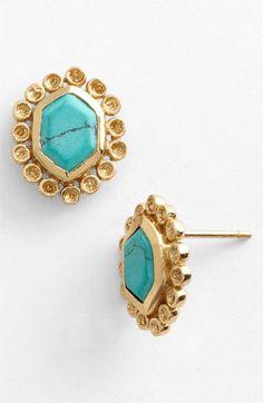 Melinda Maria 'Alex Slice' Stud Earrings available at #Nordstrom