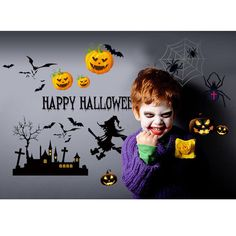 Wall sticker Happy Halloween Home Household Room Wall Sticker Mural Decor Decal Wall sticker Happy Halloween Home Household Room Wall Sticker Mural Decor Decal Removable New 70cm*50cm 2017 GIFT Drop shipping-in Wall Stickers from Home amp Garden Wall sticker Happy Halloween Home Household Room Wall Sticker Mural Decor Decal Item specifics Brand Name: ISHOWTIENDA Style:. | eBay!  #Halloween #homedecor #wallstick #Halloweencostumes