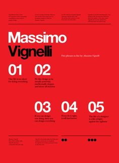RIP Massimo Vignelli Vignelli tribute poster series by Anthony Neil Dart - a South African born Designer / Director now living and working in Seattle, Washington, USA for Xbox. Poster Design, Graphic Design Posters, Graphic Design Typography, Book Design, Graphic Designers, Graphic Art, Typography Inspiration, Graphic Design Inspiration, International Typographic Style