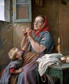 """Aurelio Zingoni (Italian, 1853 - 1922) """"A Difficult Task"""""""