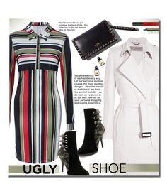 Ugly (But Chic?!) Shoes by beebeely-look on Polyvore featuring Burberry, Topshop, Urban Decay, stripes, dress, sammydress, uglyshoes and Dressunder50