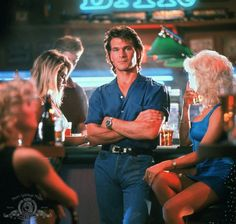 The Road House mullet - one of Patrick Swayze's best. Via IMDB