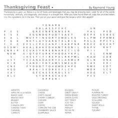 Thanksgiving Word Searches | Thanksgiving, Sunday school and Mom