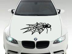 Spider Web Decal - Car Body Decal, Bumper Sticker, Rear Window Decal, Wall Decal…