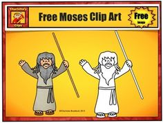 Free Bible Clip Art set of Moses for personal use or commercial use. Download includes color and line art:Moses holding staff All images are in a 300 dpi transparent png format. Please, read the Updated Terms of UseThis Moses Clip Art Image is from my Moses Clip Art Set:Moses Clip Art Set - Bible SeriesIf you like this free clip art set, you may want to check out :More Free Christian Clip ArtThis set is great for Bible stories, Sunday School, Retelling stick puppets, sequencing story events…
