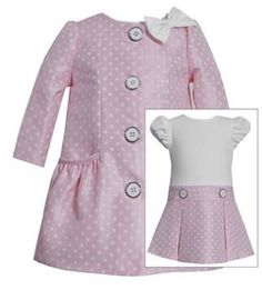 Traditional & classic! Pink Dress & Coat Ensembles! http://www.connieskids.com/easter-favorites/girls-easter-dresses-ensembles/pink-white-dress-coat-ensemble
