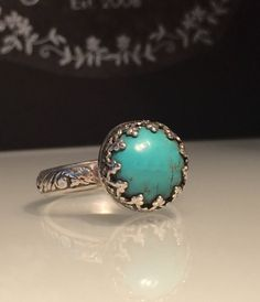 A personal favorite from my Etsy shop https://www.etsy.com/listing/281294722/handmade-turquoise-ringartisan-turquoise