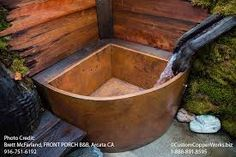 The Esquina Japanese Style Copper Bathtub by SoLuna is a handcrafted Ofuro style corner bath tub by SoLuna. Copper Light Fixture, Copper Lighting, Bathtub Pictures, Copper Top Table, Copper Furniture, Image Master, Copper Tub, Japanese Soaking Tubs, Built In Bench