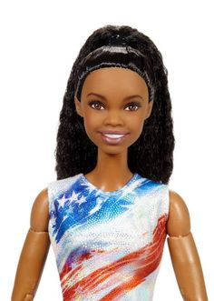 Gabby Douglas scores her own Gymnast Barbie doll! Gabby has become Gymnastics royalty and now she will forever be embedded in the rooms, hopes, and dreams of every little . Gabby Douglas, Made To Move Barbie, Barbie And Ken, Barbie Clothes, Barbie Dolls, Diva Dolls, Barbie Hair, Gymnastics Posters, Olympic Gymnastics