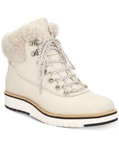 Cole Haan Grandexplore Hiker Boots - Ivory/Cream 10.5M