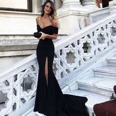 Unique Off Shoulder Prom Dress Sexy Evening Dresses Black Mermaid Prom  Dress Hot  promdress  969d7cfa3f9