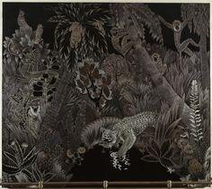 Jean Dunand | Лес или Тигр утоляющие жажду | художественные Изображения