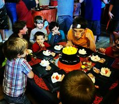 Naruto Birthday, Ariel, Birthday Parties, Carnival, Party Ideas, Face, Painting, 1 Year, Anniversary Parties