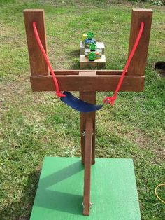 "Life Sized Angry Birds Game    We were walking through Walmart when we saw some Angry Bird stuffed animal toys for sale. My wife and I looked at each other and said ""we need to build a life sized Angry Birds Game"". So, we bought some stuffed Angry Birds, some wood, various hardware, and rubber tubing and built a life sized Angry Bird Game. Could use with Parabola Lesson"