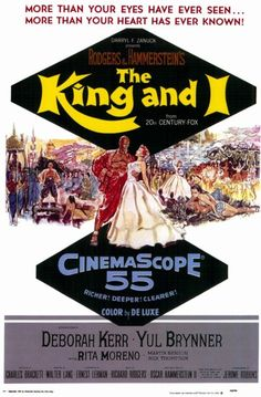 The King and I Starring: Deborah Kerr, Yul Brynner and Rita Moreno Classic Movie Posters, Original Movie Posters, Classic Movies, Old Movies, Vintage Movies, Great Movies, Musical Film, Film Movie, Musical Theatre