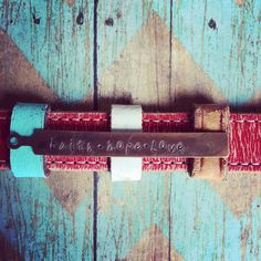 The Pieces of Me Handpainted Distressed Red Leather by thecuffchic