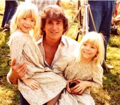 "Michael Landon stars on ""Little House on the Prairie,"" with Wendi and Brenda Turnbaugh, who played his daughter."