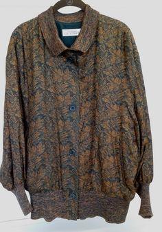 Vintage Silk Jacquard Dolman Sleeve Jacket by Linda Allard for Ellen Tracy by PastPrezence on Etsy