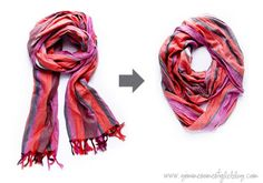 Make your own infinity scarf - A Little Craft in Your Day