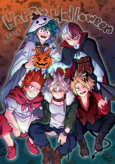 Bakugou x todoroki x reader x izuku x kirishima x denki - Special Chapter karaokie love? Anime Halloween, Mode Halloween, My Hero Academia Shouto, Hero Academia Characters, Anime Characters, Hero Wallpaper, Cute Anime Wallpaper, Anime Boyfriend, Fanarts Anime