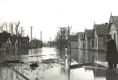 By any measurement, the Flood of 1913 was the most significant catastrophe in Ohio's history. One that left an indelible mark on transportation infrastructure, humanitarian missions and, of course, flood planning. This photo gallery includes a selection of photos showing damage from around the state.<br> This image was taken during the Flood of 1913 on Seventh Street in Chillicothe.