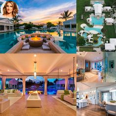 Celine Dion's Florida mansion,which now has a new owner, is breathtakingly beautiful. The mammoth Palm Beach County property sits on over five acres and was built in 2010 by Dion and her husband, René Angélil,. The Bahamian-inspired home has 13 bedrooms, 14 bathrooms, a guest house, golf simulator, and over 400 feet of ocean frontage, but its most interesting feature has to be the water park, which entails a lazy river, water cannons, slides, and a tree house. #STAYTUNED at www.elvy.com .