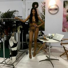 repost from @curvexpo Gorgeous model and new collection from @edgeobeyond | booth 445 | #curveny #curvexpo #lace #intimates #intimateapparel #lingeries #model #shows #newcollection #buyers #ss16...