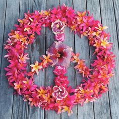 aloha vibes // peace sign art // hibiscus // plumeria // tropical flowers // lei // beautiful inspiration for all of us at Coco Moon Hawaii