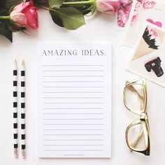 Our new amazing ideas notepad! Will be in the shop this afternoon ❤️ #misspoppydesign #stationery #amazingideas #notepad