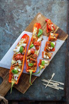 Warm hapje voor bij de borrel of bij een buffet. Love Food, A Food, Food And Drink, Vegetable Recipes, Vegetarian Recipes, Healthy Recipes, Vegas, Happy Foods, Evening Meals