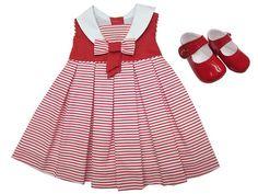 Vestido marinero de color rojo