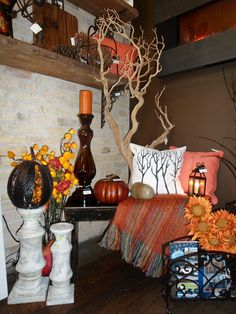 A display of fall merchandise at Louise's Cottage & Home in Goderich.