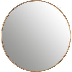 Features:  -Finish: Gold.  -Premium quality materials with unique high-style design.  Shape: -Round.  Style: -Modern/Mid-Century.  Distressed: -Yes.  Mirror Type: -Accent.  Orientation: -Both. Dimensi