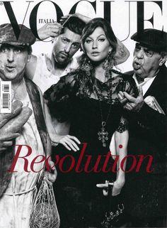 Gisele Bundche by Steven Meisel in Dolce&Gabbana Fall Winter 2014, Vogue Italy Cover July 2013
